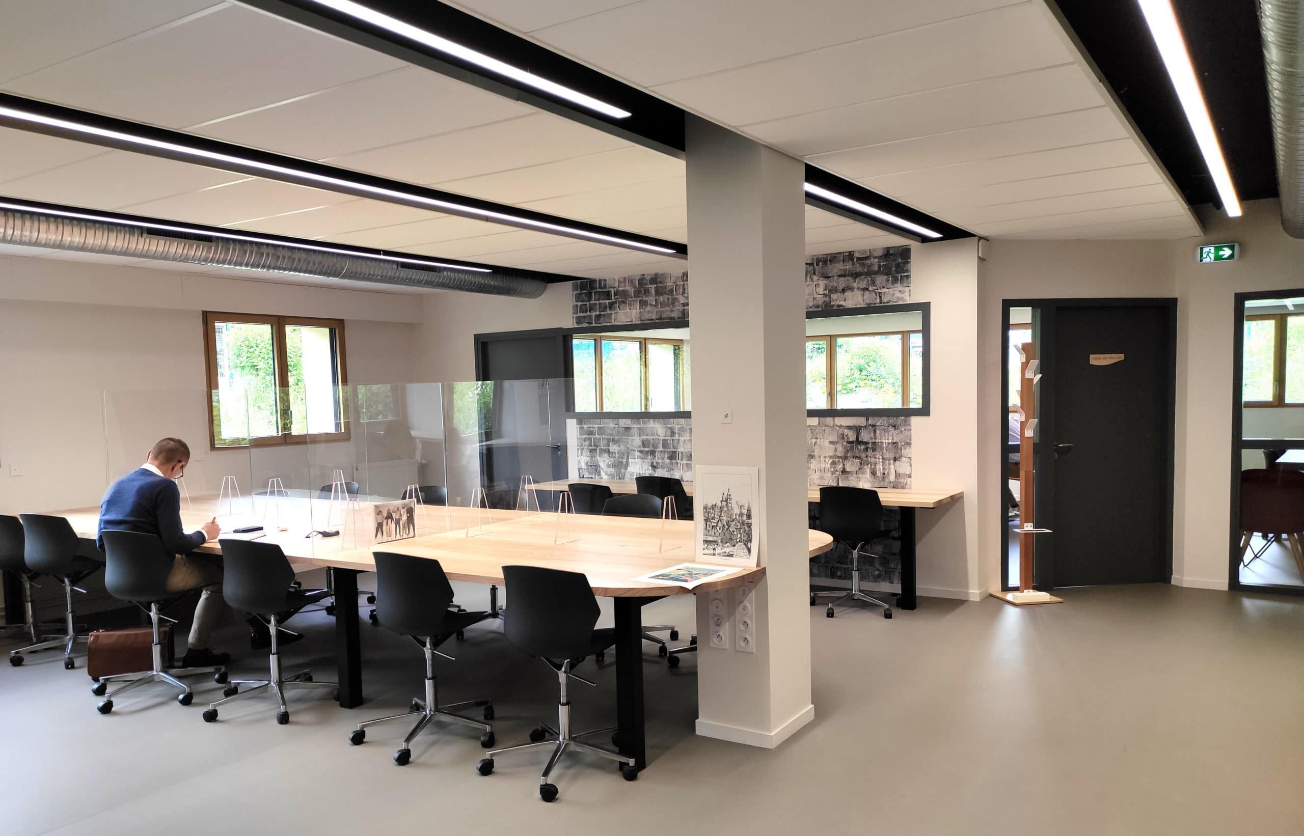 Espace coworking du Fil Fougères Agglomération